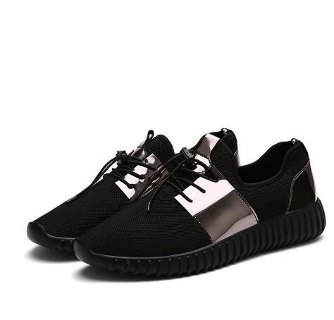 blanc De or Couple New Sport Mode Taille Noir Chaussures Hommes Automne 46 Summer 35 Respirant 2018 Plat 2EID9H