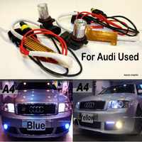Free shipping LED car-styling Fog Lights LED for Audi S8 2009 No OBC Error Bulb-Out Warning Message