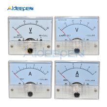DC Analog Voltmeter Current Meter Panel 5A 10A 30V 50V 85C1 Pointer Gauge Panel Amp Volt Voltage Current Digital Display