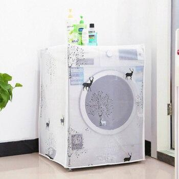 PEVA Zonnebrandcrème Stofdicht Cover Wasmachine Cover Waterdichte Case Wasmachine Beschermende Stof Jas Front Top Open 1 st