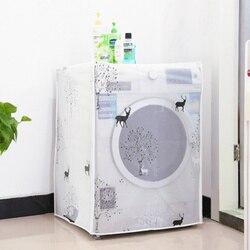 PEVA protector solar a prueba de polvo cubierta de la lavadora a prueba de agua funda lavadora protector polvo chaqueta frontal abierto 1 PC