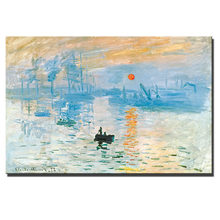 Monet Impression - sunrise Wall Paintings World Famous Oil Paintings Replica Unframed Decorative Pictures Cuadros Drop Shipping