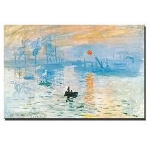 Monet – peinture à l'huile murale sunrise, réplique de peintures à l'huile de renommée mondiale, photos décoratives sans cadre, livraison directe