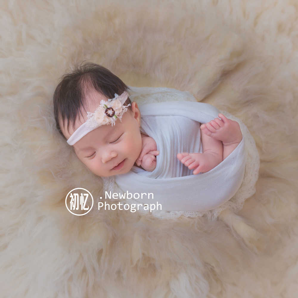 Newborn photography props wrap headband cotton prop filler baby swaddle stroller blanket baby photo props