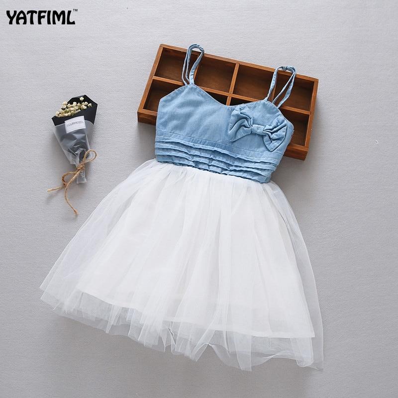 212cf3a20a YATFIML 2017 Letnie Dzieciaki Dziewczyna Sukienka Tutu Princess Dress  Odzież Dżinsowa Denim Jean Dress Sukienkę Odzież w YATFIML 2017 Letnie  Dzieciaki ...