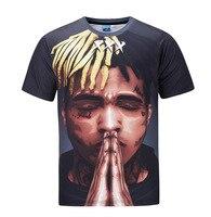2018 New Men T Shirt Boy Pray 3D Printing Hip Hop Funny Tops Tees M To