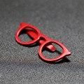 Alta Calidad Del Juego Del Mens Estilo Gafas de Color Rojo En Forma de Clips de Lazo Ocasional Clip de corbata Exquisita Barra de Lazo de Corbata de Los Hombres de Cristal Del Banquete de Boda