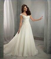 Vestido De Noiva Free Shipping New Design Casamento A Line Cap Sleeves Robe De Mariage Long