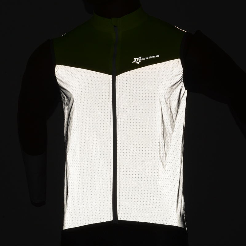 Rockbros Reflective Cycling Sleeveless Jersey Outdoor Sporting Wind Vest Special Buy Coats & Jackets