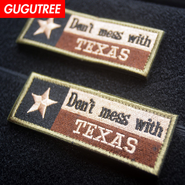GUGUTREE embroidery HOOK amp LOOP Don 39 t mess with Texas patch star state flag patches badges applique patches for clothing AD 252 in Patches from Home amp Garden