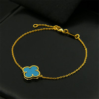 Free Shipping Popular Luxury NJ Brand Clover Blue Green Red Black Brown Natural Stone White Shell