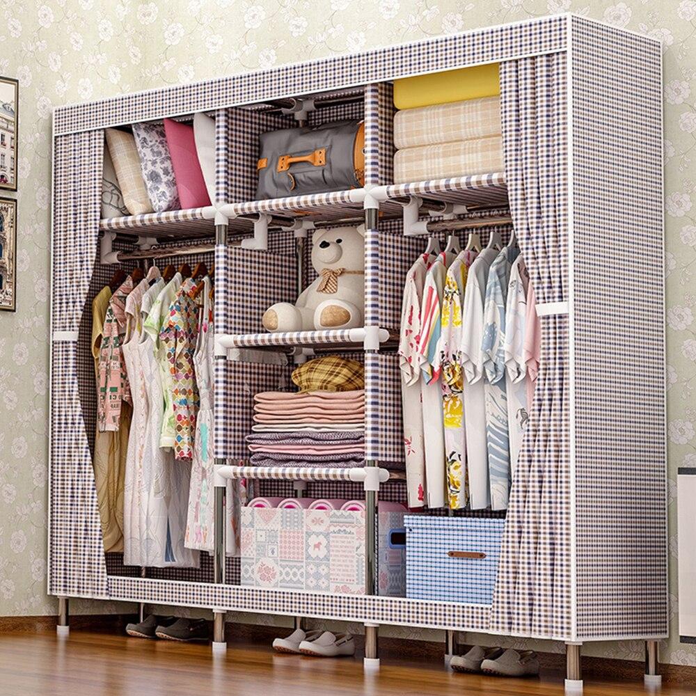 2018 meubles de rangement quand le quart garde-robe bricolage Non-tissé pli Portable armoire de rangement chambre meubles garde-robe chambre
