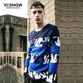 Viishow Spring Men Sweater Casual Hip Hop Cool O-Neck Pullovers Long Sleeve Warm Print Knitted Sweater Plus Size