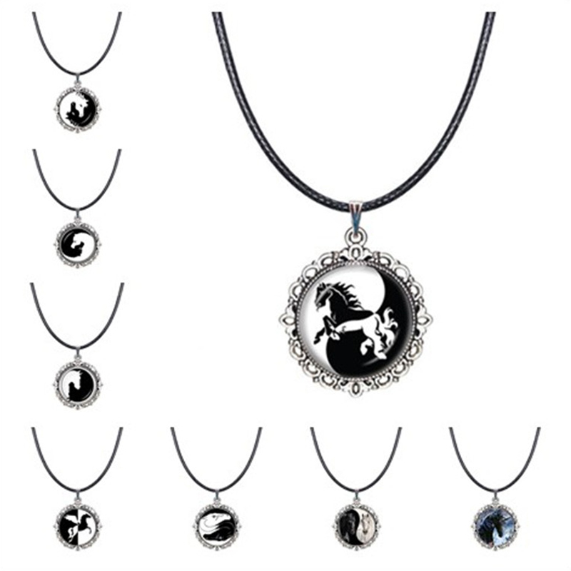 collier ras de cou yin yang