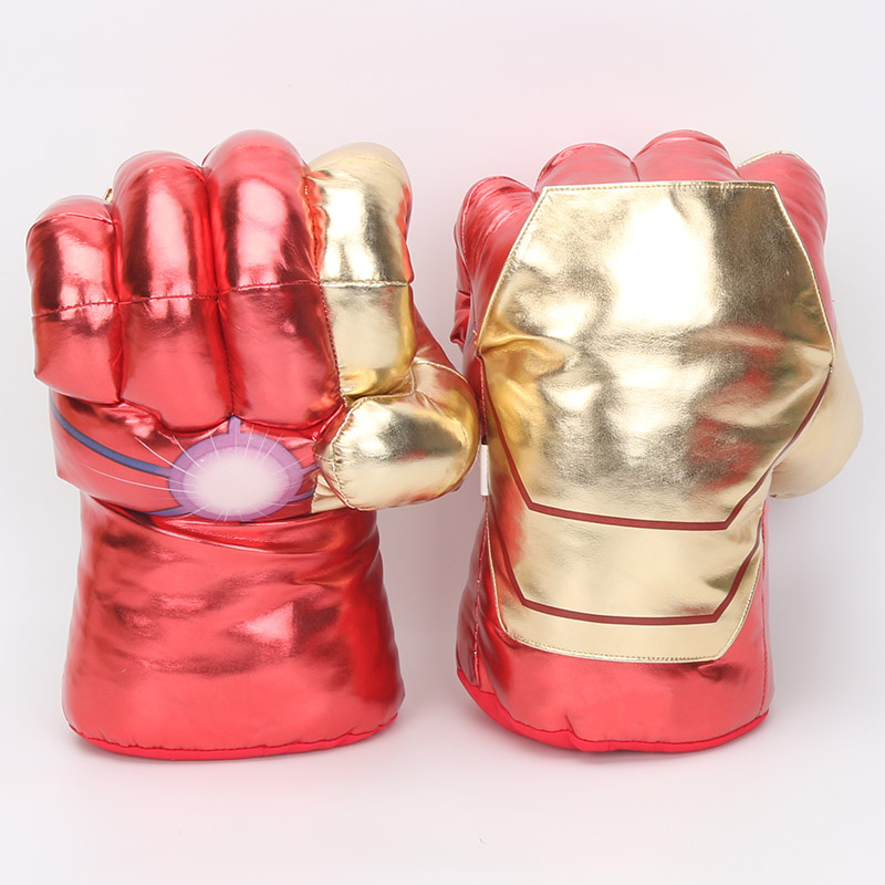 33cm incredible complex enemies end superhero figure spiderman toy iron man boxing gloves boy gift hulk gloves pair in Blocks from Toys Hobbies