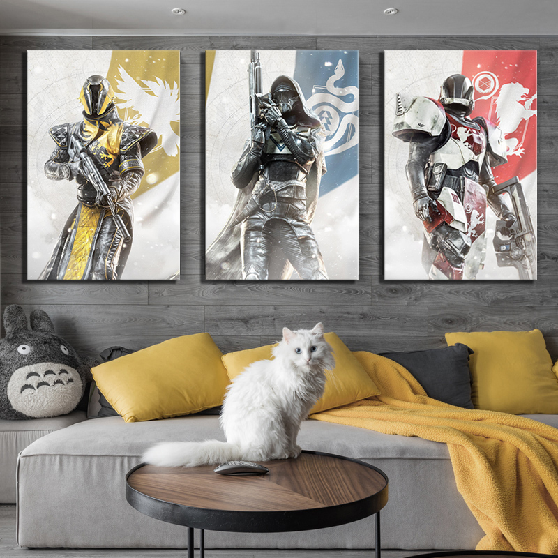 3 Piece HD Fantasy Art Pictures Destiny 2 Guardians Game Poster Canvas Paintings Wall Art for Home Decor 1