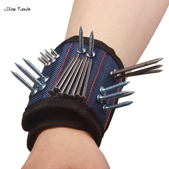 ISHOWTIENDA 3 Wristband Magnetico Strumento di Cintura Tasca Del Sacchetto Del S