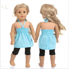 Doll Clothes Fit 18 inch 40cm-43cm Born New Baby Doll Red Pink Blue suspender skirt Accessories For Baby Birthday Gift born new baby fit 18 inch 43cm clothes for doll blue pink red star with hairhand clothes accessories for baby birthday gift