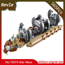 Bevle Store Bela 10374 565pcs star space Series Robot transport warship Model Building Blocks Bricks Compatible  LEPIN 75086