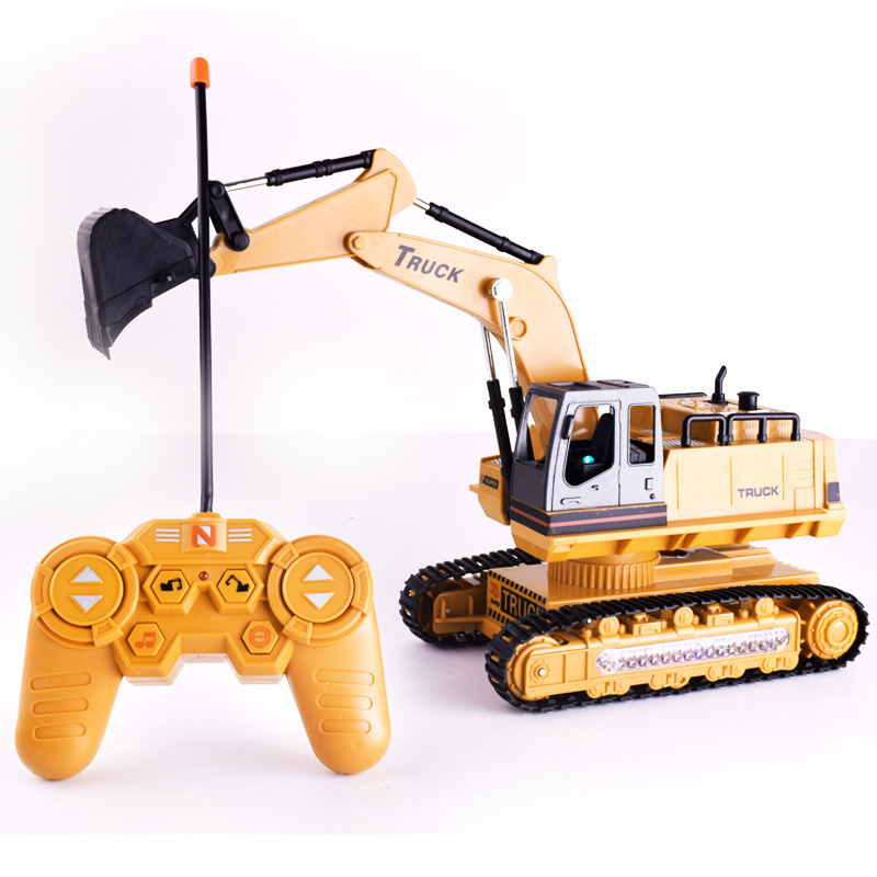 Remote Control Car 1:18 Excavator Truck Charging 2.4G RC Car With Battery 8 Channel With Music And Light Toy For Kid Children remote control 1 32 detachable rc trailer truck toy with light and sounds car