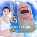 FREE GEL Home use lovely PINK Pocket Fetal Doppler ltrasonic , Prenatal monitor, baby heart monitor, fetal detector