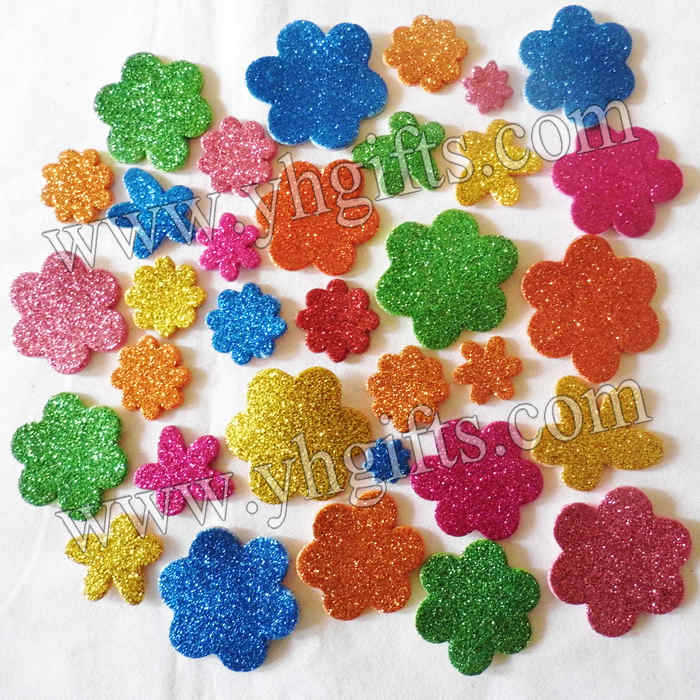 Buy 200pcs lot glitter flower stickers for Fomic sheet decoration youtube