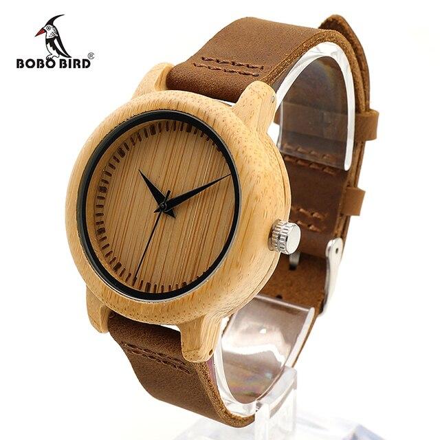 37mm Bobo Vogel Bambus Frauen Bambus Uhren Damen Quarzuhr Weiblichen