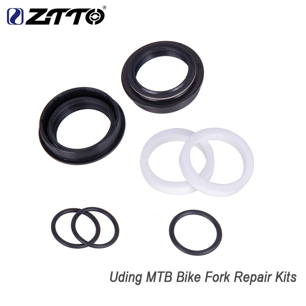 ZTTO Uding Fork Repair Kits Air Piston /Top Cap O-ring Wiper Seal Dust Oil seal Foam Washer MTB Bicycle Fork Accessory Parts