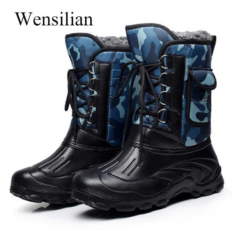 Mode Männer Winter Military Stiefel Männlichen Schnee Stiefeletten Warme  Wasserdichte Pelz Taktische Boot Schuhe Chaussure Homme 54317cbd23
