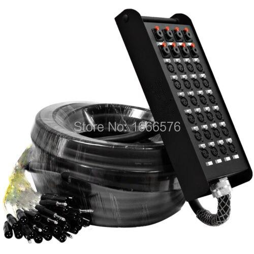 Haute qualité Audio 32 Canal 50 M XLR Code Couleur Serpent Câble (TRS Retours) Stade Serpent