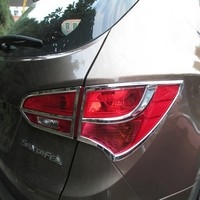 ABS Chrome Rear Headlight Lamp Cover for 2013 Hyundai Santa Fe ix45