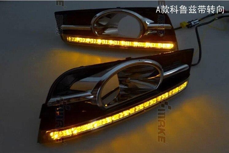 Новый!! 2009-2013 Шевроле Круз светодиодные DRL фары дневного света с функцией переключения и поворота Функция осветительного высокое качество быстрый корабль