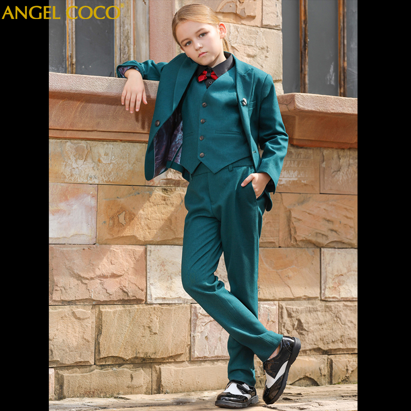 Designer Suit For Girl Green Boys Suits For Weddings Terno