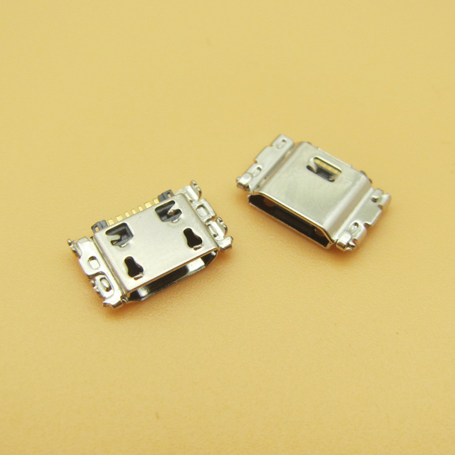 100pcs/lot Micro USB Charging Port Jack Connector For Samsung J5 SM-J500 J1 SM-J100 J100 J500 J5008 J500F J7 J700 J700F J7008