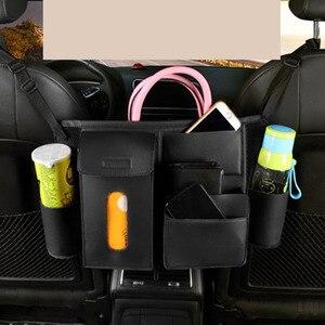 Auto sitz mittleren lücke net lagerung tasche leder rücksitz lücken hängen tasche buch taschen tissue box wasser flaschen mesh tasche organisatoren