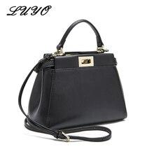 Echtes Leder Peekaboo Tasche 2017 Luxus Handtaschen Frauen Messenger Bags Designer Hohe Qualität Bein Schultertasche Crossbody Tote Sac