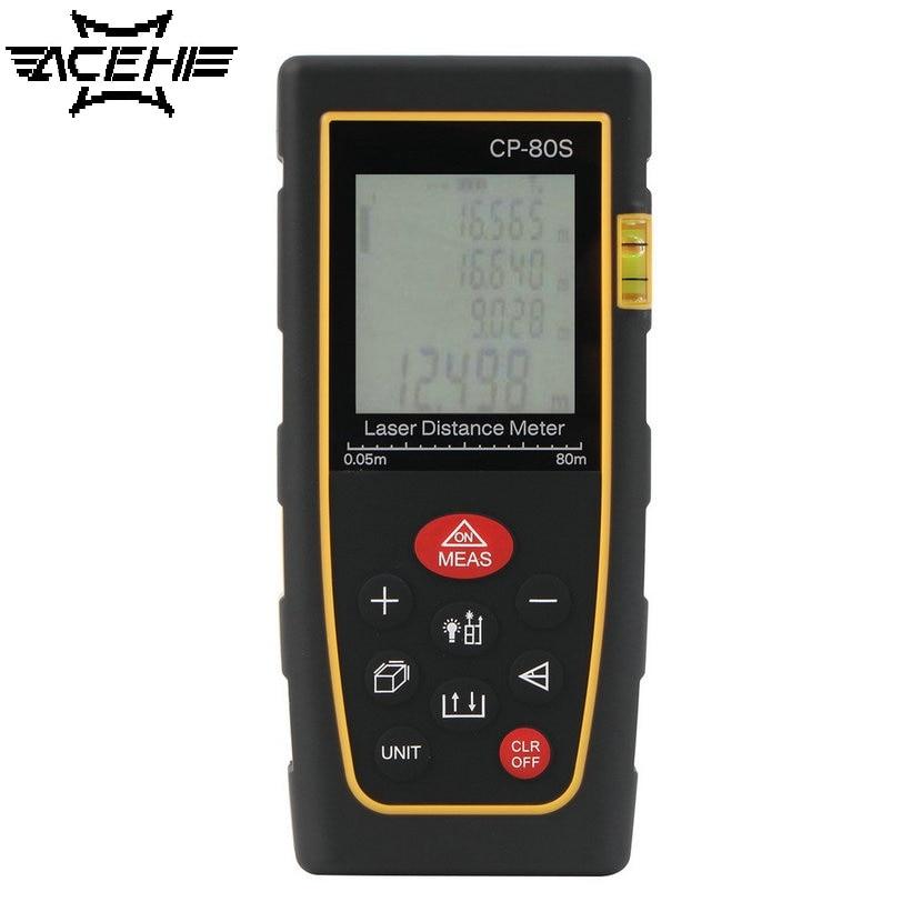 ACEHE Top Sale High Accuracy Compact  80M Handheld Digital Laser Distance Meter Range Finder Measure Diastimeter Rangefinders