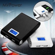 MV power Bank чехол с двойным зарядным устройством USB зарядка 4x18650 батарея ЖК-дисплей DIY Набор для смартфона Универсальный