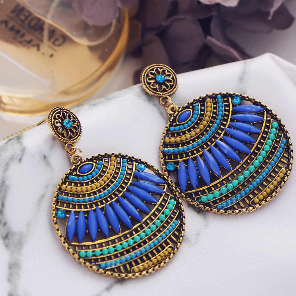 Yobest Bohemia crystal European and American trend Drop Earrings for Women fashion Jewelry