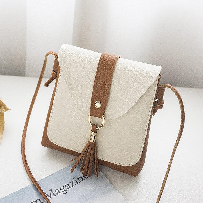 Daifa lady's foreign trade bag manufacturer new Korean version of single shoulder collision tassels handset bag in summer 2018