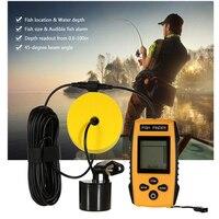 Güvenlik ve Koruma'ten Sensör ve Dedektör'de Hot Alarm Fishing Sensor 100M Portable Sonar LCD Fish Detector Finder Fishing Tools Lure Echo Sounder