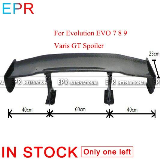 Pour Evolution EVO 7 8 9 Varis fibre de carbone GT becquet pour Mitsubishi fibre brillante coffre aile accessoires Kit carrosserie