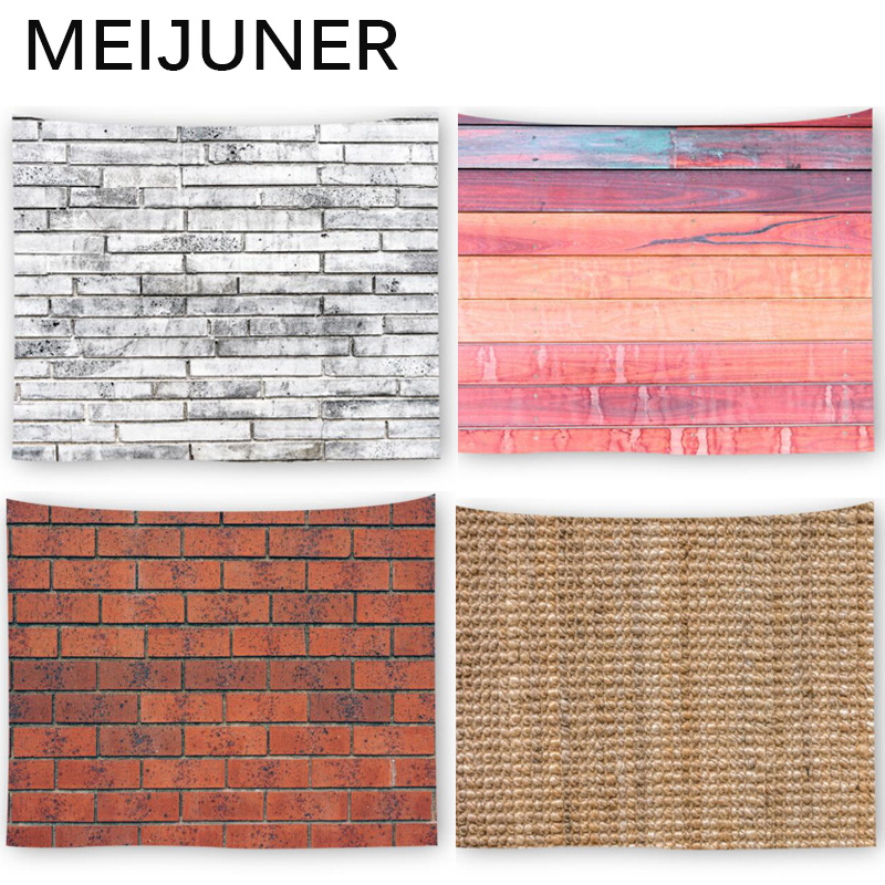 Meijuner 3 D Printed Brick Wood Stone Wall Tapestry Hanging Mandala Boho Psychedelic Hippie Tapestry Home Decoration Towel Mj150 by Ali Express.Com