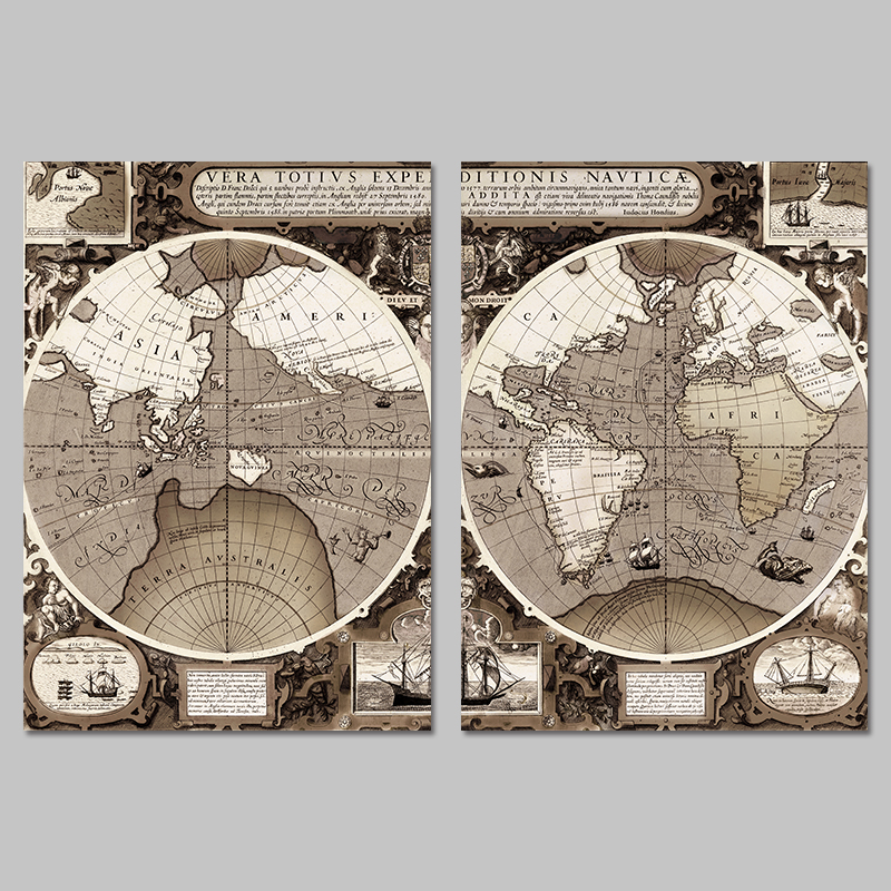 2 pcsset big size retro old world maps earth decoration wall art 2 pcsset big size retro old world maps earth decoration wall art pictures canvas paintings for living room home decor unframed in painting calligraphy gumiabroncs Image collections