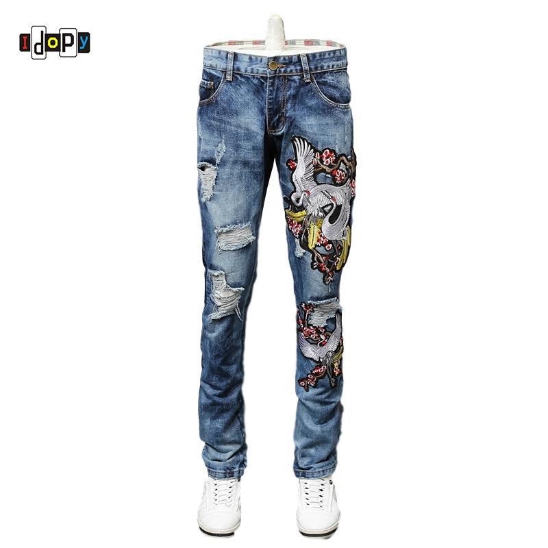 98bbc1b640 Idopy-Mens-Hip-Hop-Designer-Jeans-Straight-Fit-Broderie-D-truit-Lav-Jeans-D-chir-Streetwear.jpeg