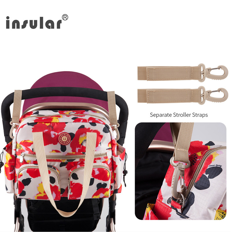 New Style Insular Printed Baby Diaper Bag Premium Quality Mommy Bag Nappy Bag Women Tote Bag