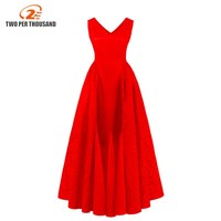 Women Ladies Embroidered Sleeveless 2018 Plus Size 4XL 3XL Red Lace Long Party Dress Evening Maxi Dresses for Vestidos