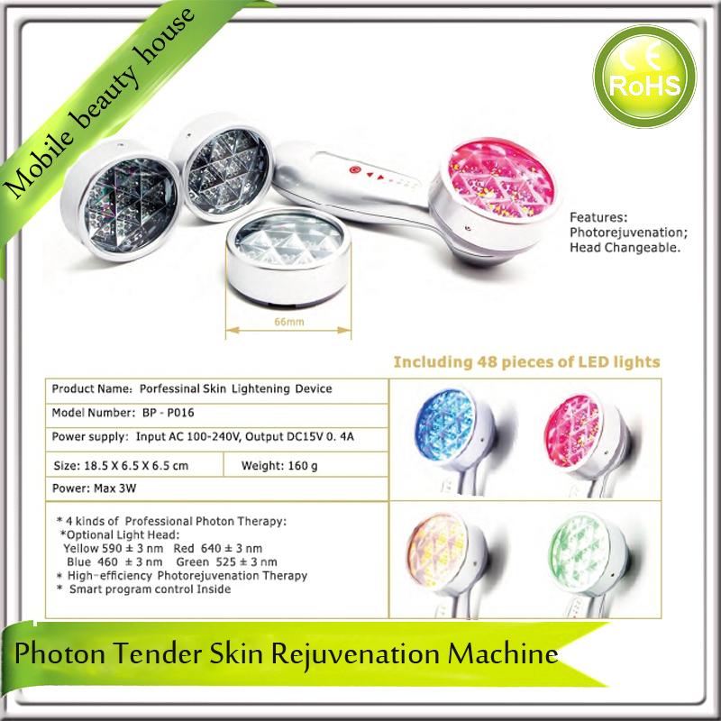 Portable Skin Rejuvenation Bio Led Light Photon Therapy Facial Treatment Device For Skin Tightening Firming Lifting