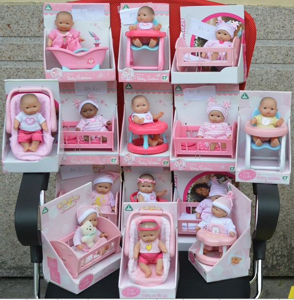 newborn set jc toys pocket size mini baby doll elc toys girl gift ring toy mobile learning and