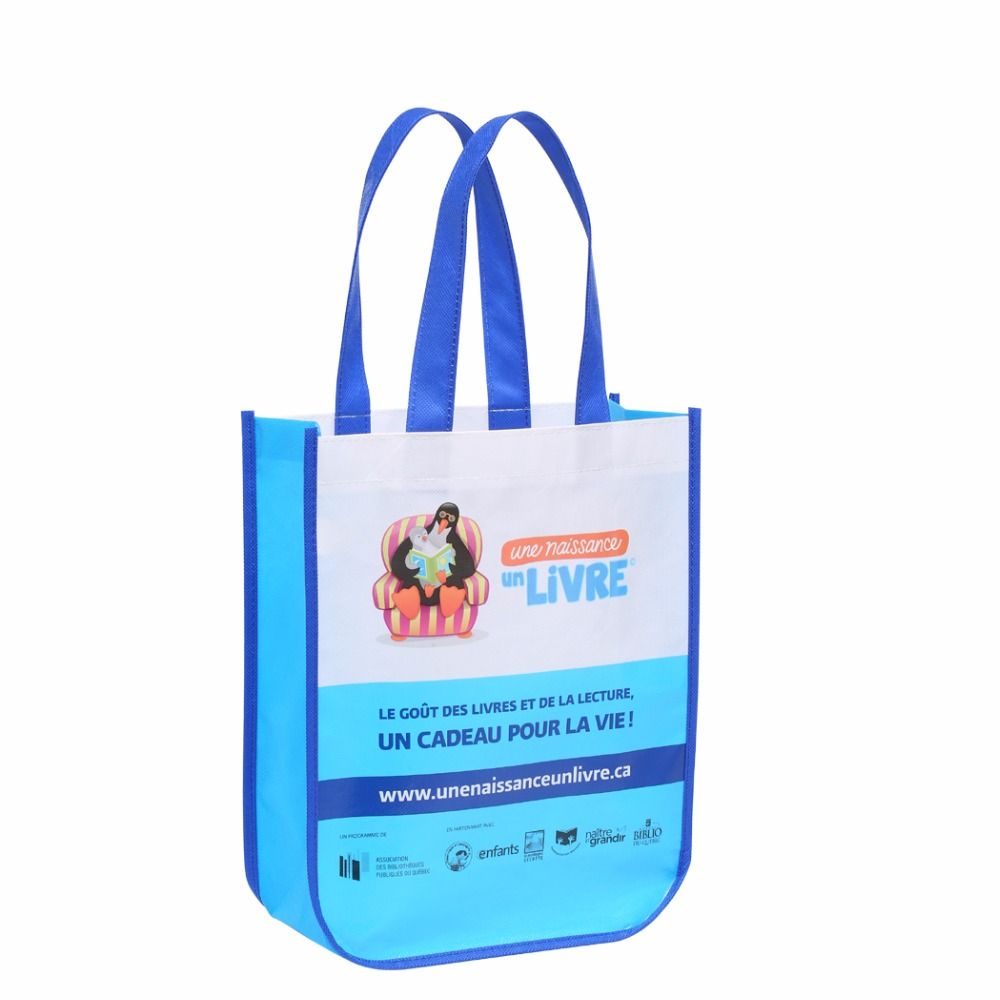 Free Shipping Custom Laminated Full Color Pp Non Woven Ping Bag Grocery Tote With Logo In Bags From Luggage On Aliexpress